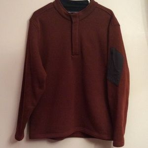 Exofficio Men's Burnt Orange T-Snap Sweater